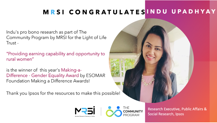 Congratulations Indu on your work with MRSI