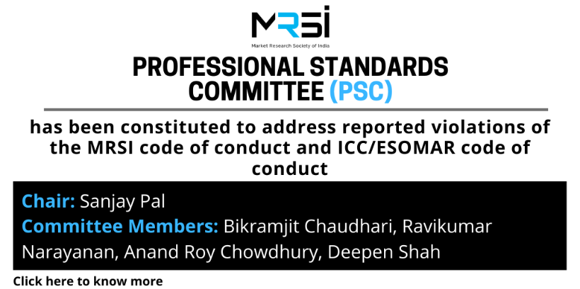 The MRSI Professional Standards Committee goes live